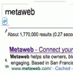 L'achat de MetaWeb par Google